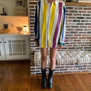Vintage Candy-Stripe Button-up Shirt